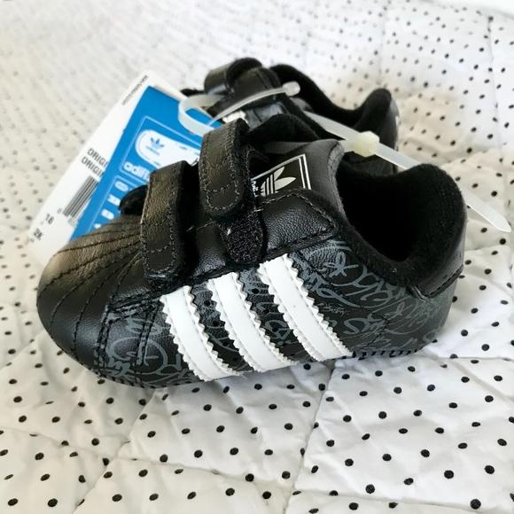 adidas Superstar Crib Shoes Black